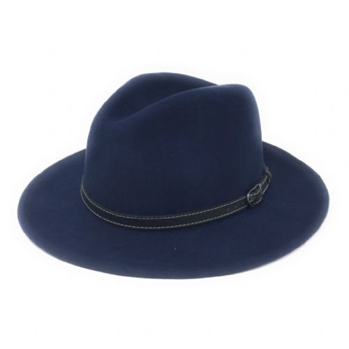 Wool Midnight Blue Fedora Hat - Showerproof - Montana